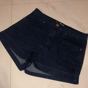 NWOT High Waisted Dark Denim Shorts